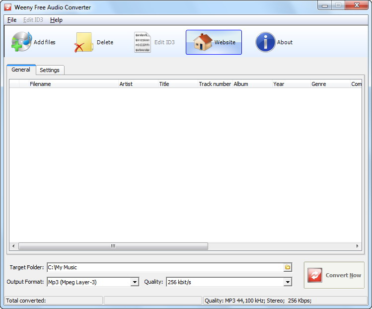 Weeny Free Audio Converter screenshot