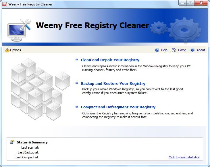 Weeny Free Registry Cleaner 1.0 full