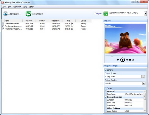 Free Video Converter Screenshot