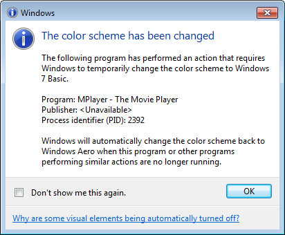 "Fixed ""The color scheme has been changed"" bug on Windows 7"