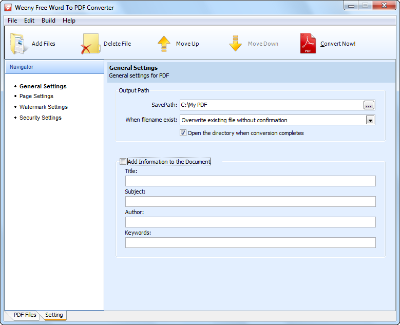 Free Word to PDF Converter Download