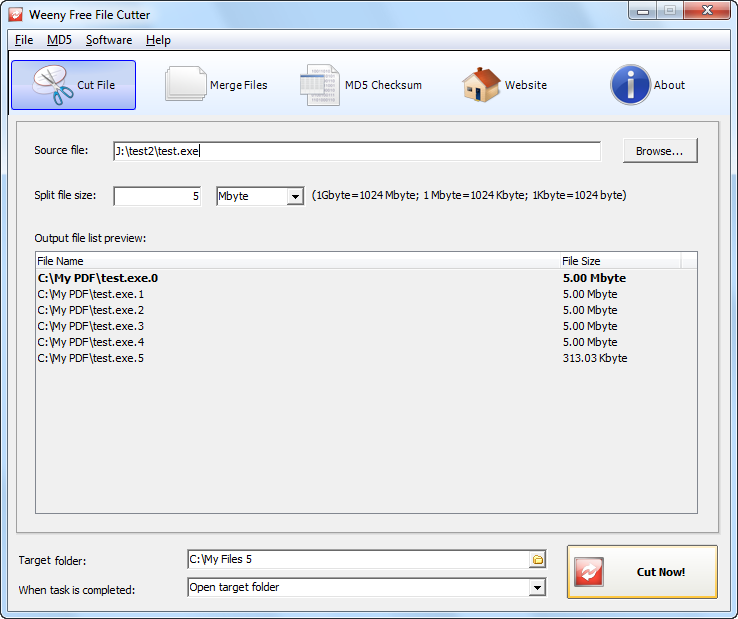 Free File Cutter Download