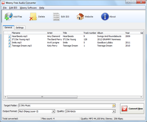 Free Audio Converter screenshot 1 - main window