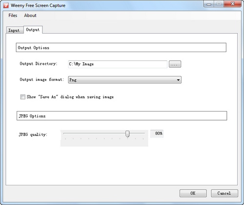 Free Screen Capture screenshot 2 - output settings