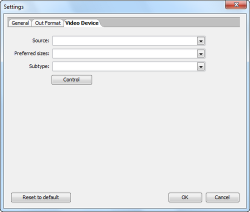Free Video Recorder screenshot 4 - video device settings window